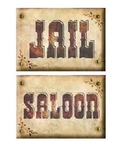 Decoratiebord Jail / Saloon