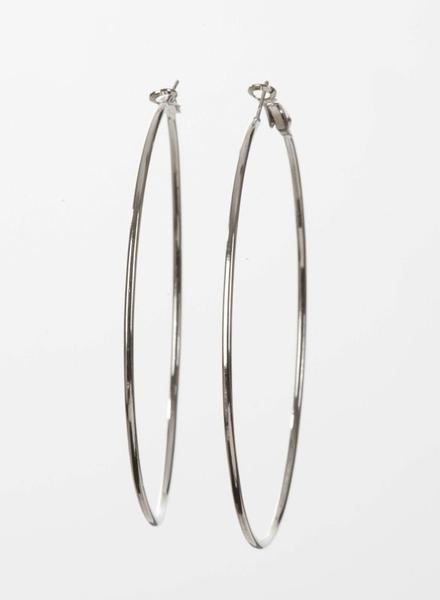 ring oorbellen zilver