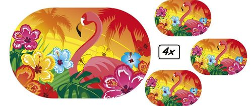 4x Placemate Flamingo