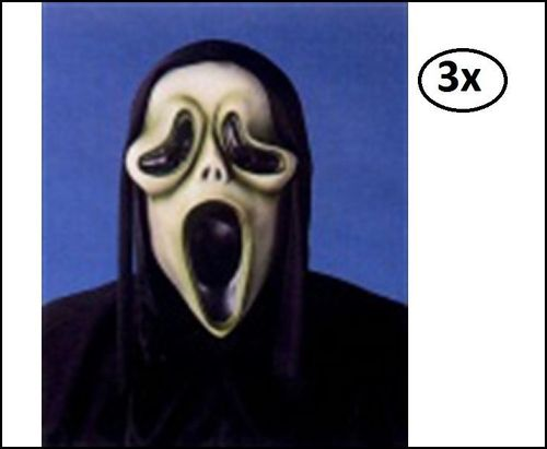 3x Latexmasker Scream the movie