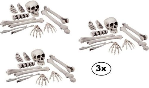 3x Halloween zak botten per 12 items