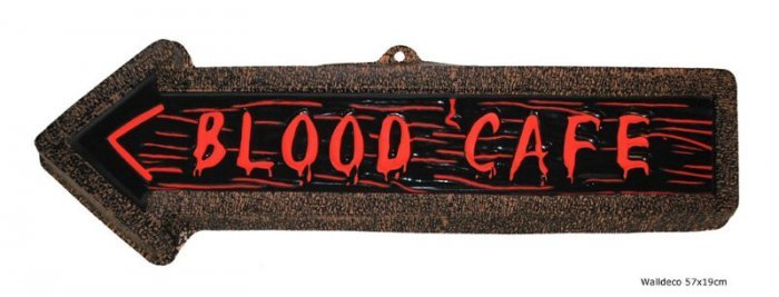 wanddecoratie blood cafe themaparty webshop
