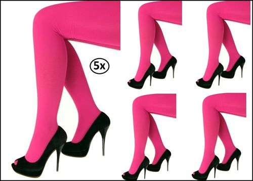 5x Legging pink one size