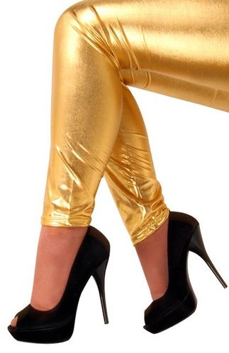 Legging metallic goud mt. L/XL