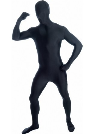 Morphsuits zwart mt XXL