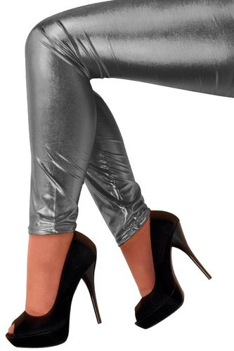 Legging metallic antraciet S/M