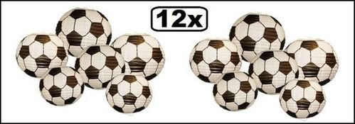 12x Voetbal hang decoratie assortie