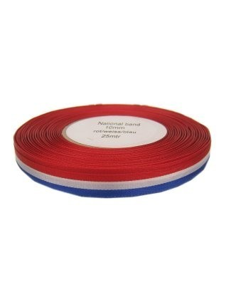 3x Medaille lint rood/wit/blauw 25 mtr