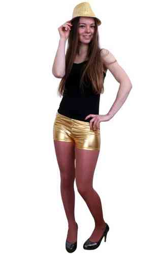 Metallic hotpants goud mt.XS