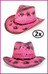2x Toppers hoed Stetson crazy summer