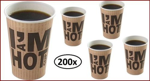 200x Koffiebeker I am Hot 180cc