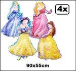 4x Folieballon princes 90x55cm