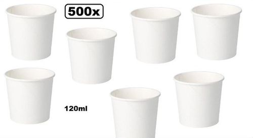 500x BIO Kartonnen Saus Cups 90ml Wit